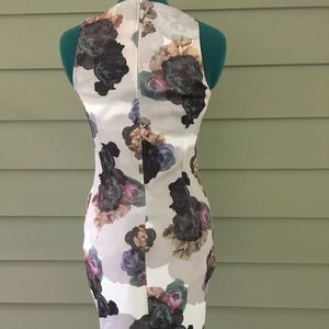H&M Dresses - Pastel floral sleeveless bodycon dress—H&M
